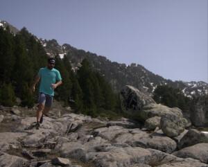 Trail running..