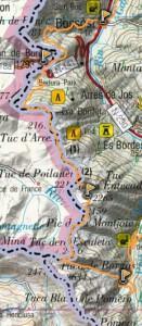 mapa sector 2 aran by utmb